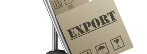 Boxes marked for export which UKTI aims to encourage