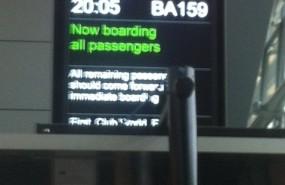 Flight board to Almaty, Kazakhstan