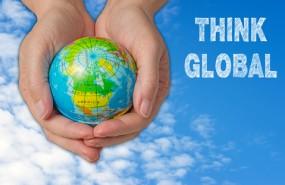 Export globe in hands