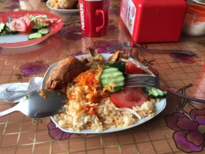 Typical Kazakh lunch